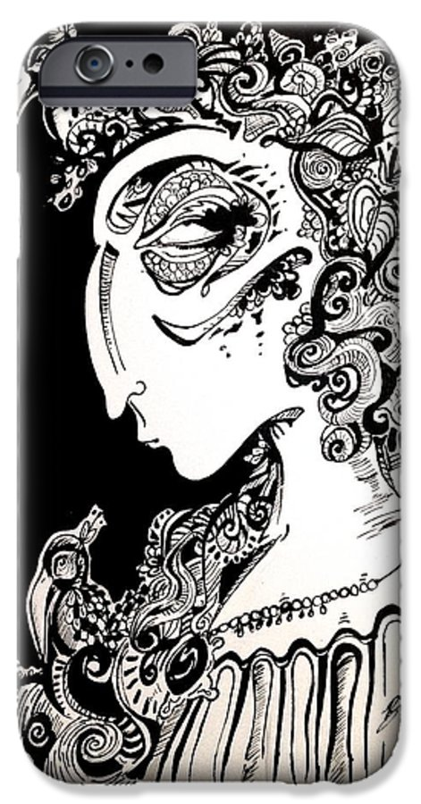 Blackandwhite IPhone 6s Case featuring the painting An Ode To Toller by Brittney Norton
