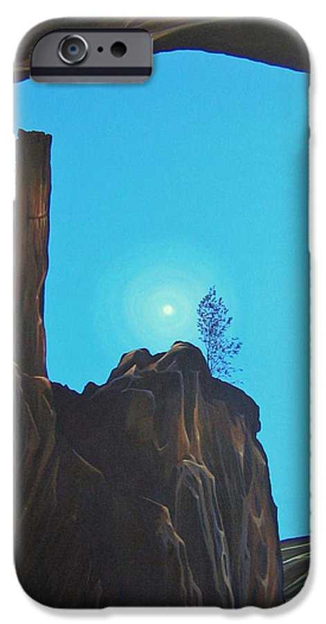 New Mexico IPhone 6s Case featuring the painting Anasazi Dreams by Hunter Jay