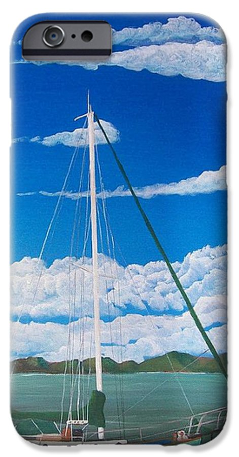 Anchored IPhone 6s Case featuring the painting Anchored by Tony Rodriguez