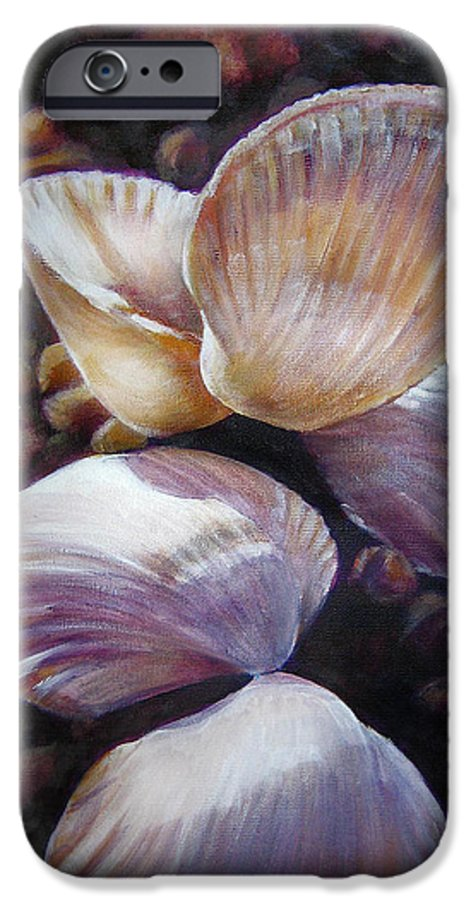 Painting IPhone 6s Case featuring the painting Ane's Shells by Fiona Jack