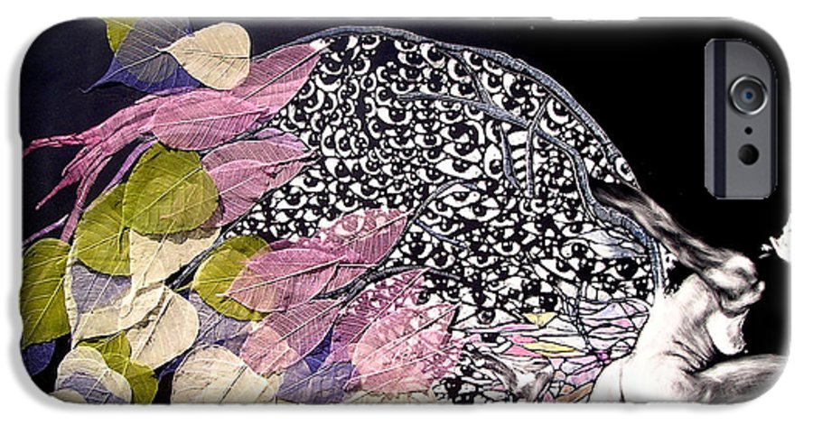 IPhone 6s Case featuring the mixed media Angel Eyes by Chester Elmore