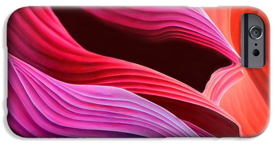 Antelope Canyon IPhone 6s Case featuring the painting Antelope Waves by Anni Adkins