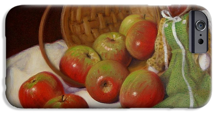Realism IPhone 6s Case featuring the painting Apple Annie by Donelli DiMaria