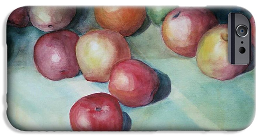Orange IPhone 6s Case featuring the painting Apples And Orange by Jun Jamosmos
