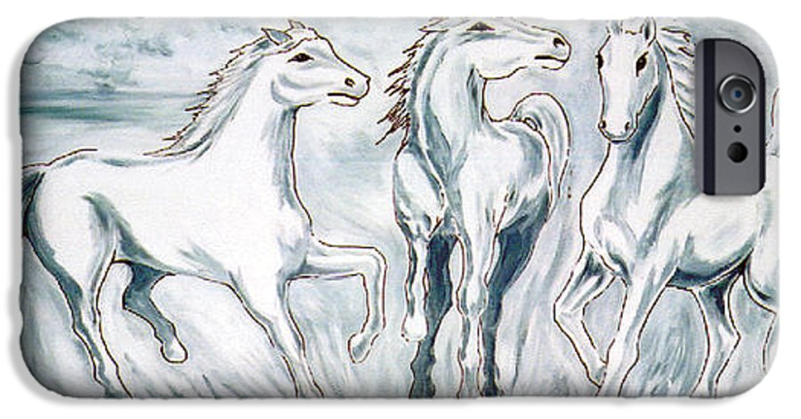 Horses IPhone 6s Case featuring the painting Arabian Roots by Marco Morales