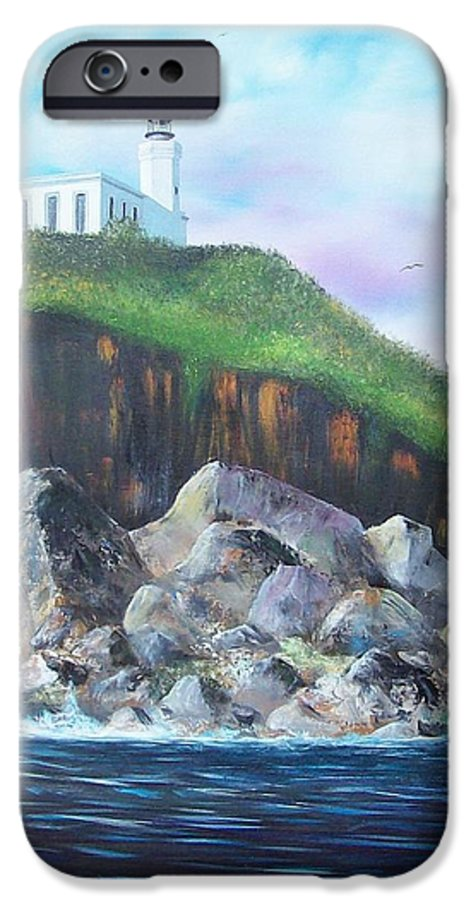 Arecibo Lighthouse IPhone 6s Case featuring the painting Arecibo Lighthouse by Tony Rodriguez