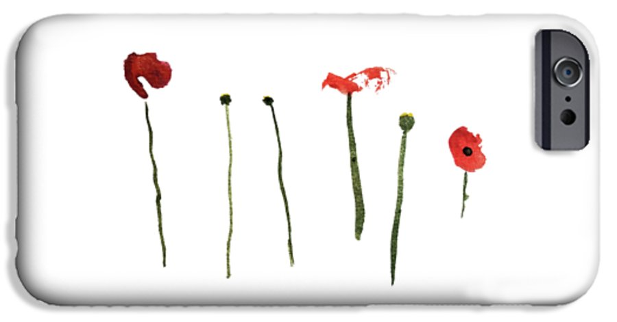 Poppy IPhone 6s Case featuring the painting Red Poppies by Stephanie Peters