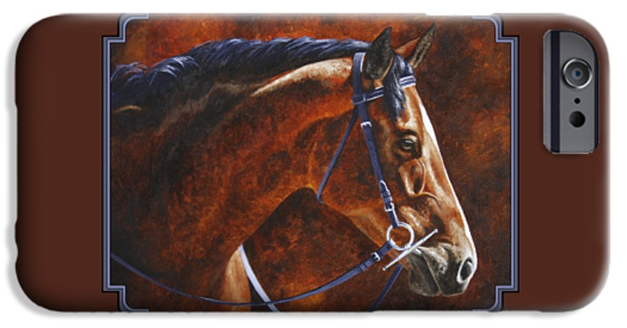 Horse IPhone 6s Case featuring the painting Horse Painting - Ziggy by Crista Forest