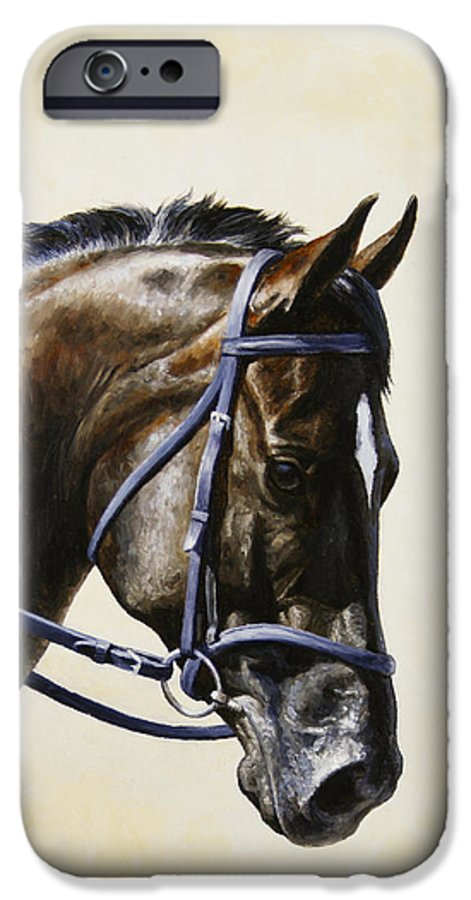 Horse IPhone 6s Case featuring the painting Dressage Horse - Concentration by Crista Forest