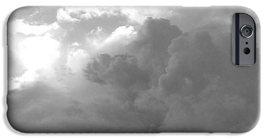 Black And White IPhone 6s Case featuring the photograph Atmospheric Barcode 19 7 2008 16 Version Bw by Donald Burroughs