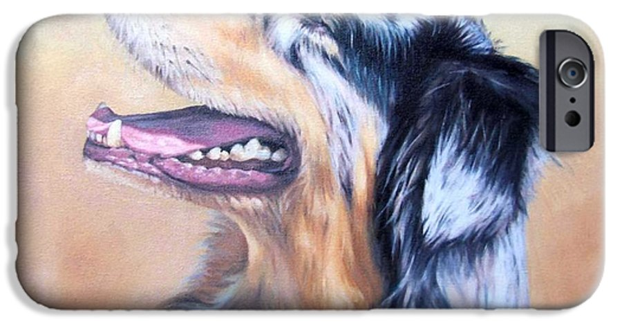 Dog IPhone 6s Case featuring the painting Australian Shepherd Dog by Nicole Zeug