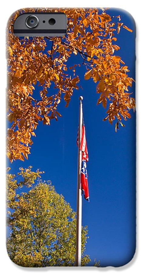 Flag IPhone 6s Case featuring the photograph Autumn Flag by Douglas Barnett