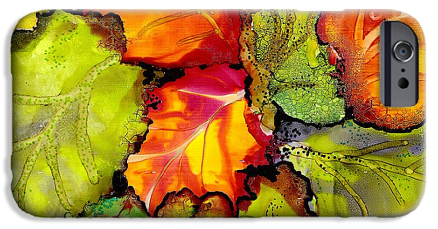 Leaves IPhone 6s Case featuring the painting Autumn Leaves by Susan Kubes