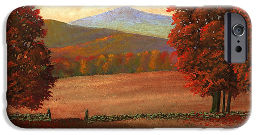 Autumn IPhone 6s Case featuring the painting Autumn Pastures by Frank Wilson