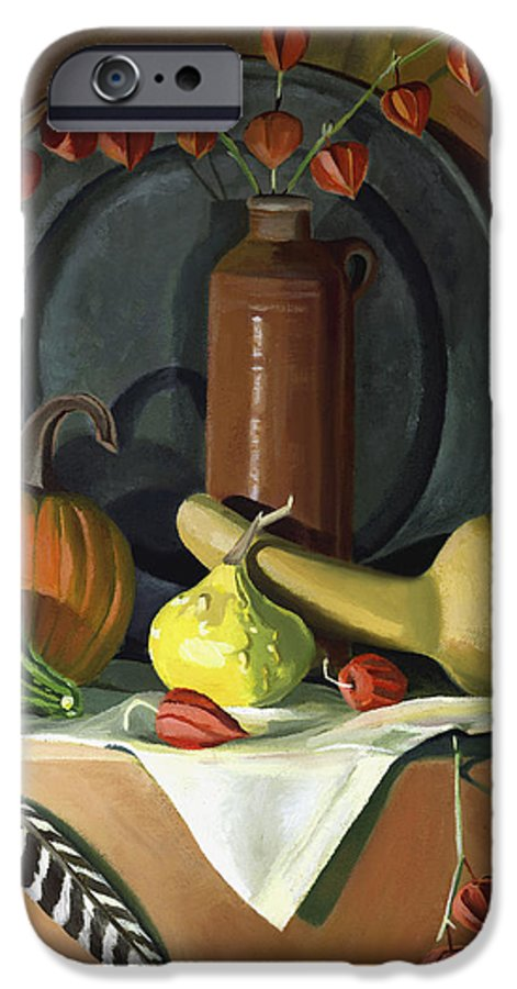 Still Life IPhone 6s Case featuring the painting Autumn Still Life by Nancy Griswold