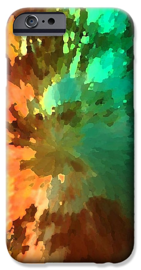 Abstract IPhone 6s Case featuring the painting Autumn Surprise by Florene Welebny