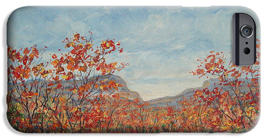 Paintings IPhone 6s Case featuring the painting Autumn View. by Leonard Holland