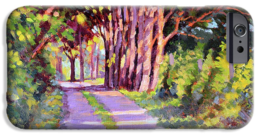 Road IPhone 6s Case featuring the painting Backroad Canopy by Keith Burgess