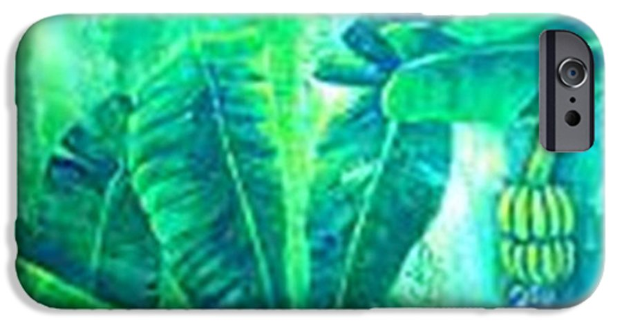 IPhone 6s Case featuring the painting Banan Leaves 5 by Carol P Kingsley
