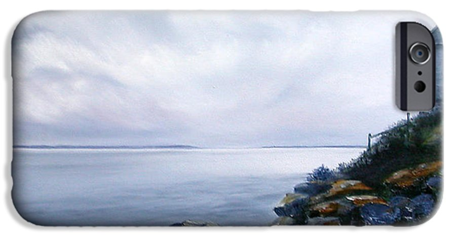 Ocean IPhone 6s Case featuring the painting Bass Harbor Maine by Brenda Ellis Sauro