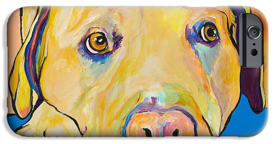 Dog Paintings Yellow Lab Puppy Colorful Animals Pets IPhone 6s Case featuring the painting Bath Time by Pat Saunders-White
