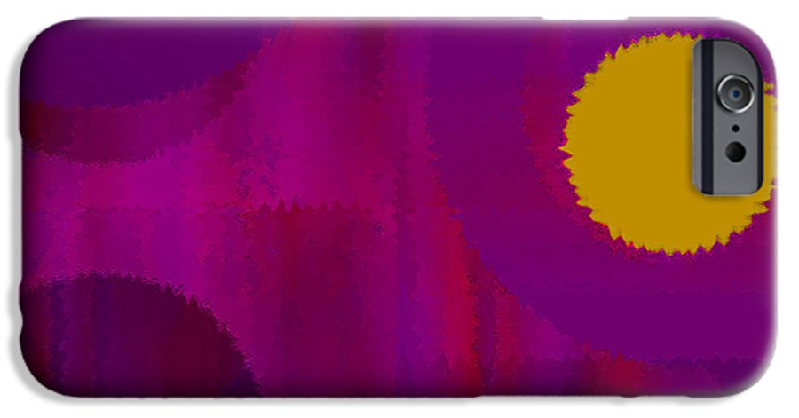 Abstract IPhone 6s Case featuring the digital art Be Happy II by Ruth Palmer