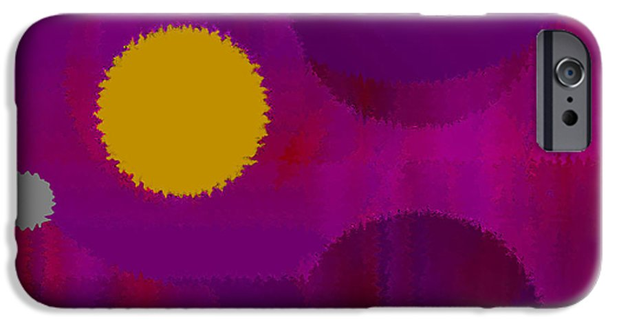 Abstract IPhone 6s Case featuring the digital art Be Happy by Ruth Palmer