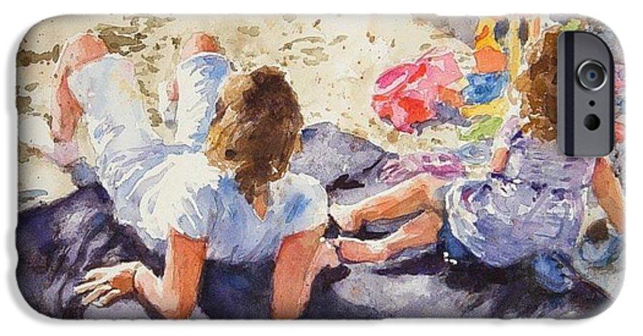 Beach IPhone 6s Case featuring the painting Beach Blanket by Debra Jones