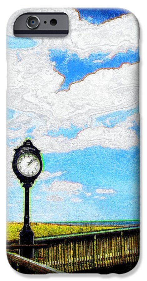 Photograph IPhone 6s Case featuring the photograph Bethany Beach Clock by Jeffrey Todd Moore