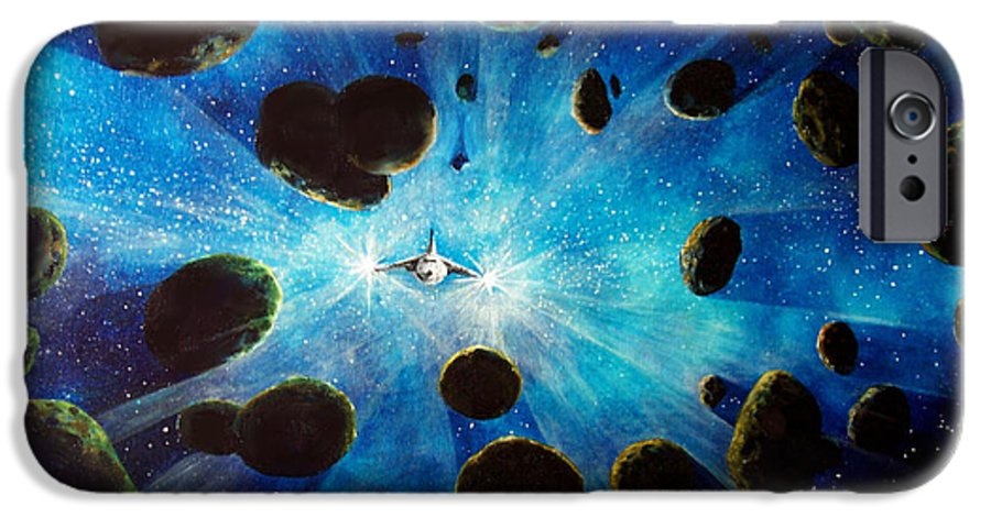 Asteroid Field. Astro IPhone 6s Case featuring the painting Better Go Around by Murphy Elliott