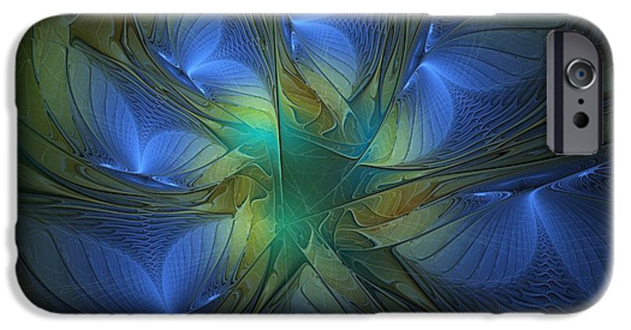 Digital Art IPhone 6s Case featuring the digital art Blue Butterflies by Amanda Moore