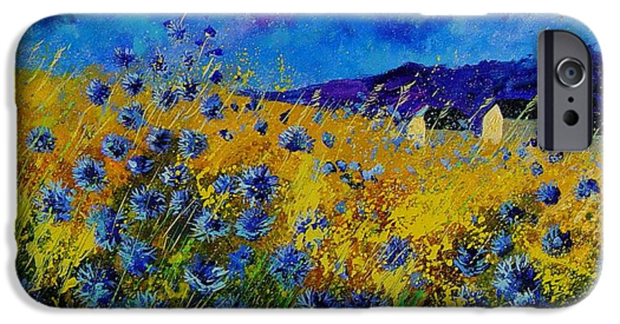 Poppies IPhone 6s Case featuring the painting Blue Cornflowers by Pol Ledent
