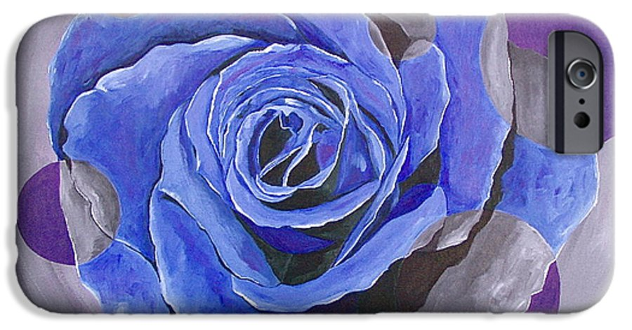 Acrylic IPhone 6s Case featuring the painting Blue Ice by Herschel Fall