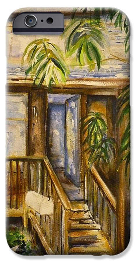 Blue Ridge Mountains IPhone 6s Case featuring the painting Blue Ridge Cabins Blue Ridge Mountains by Lizzy Forrester