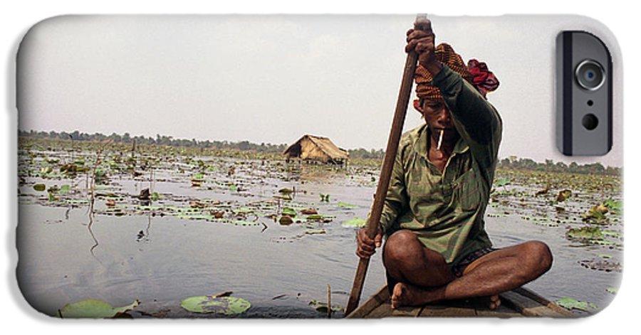 Cambodia IPhone 6s Case featuring the photograph Boatman - Battambang by Patrick Klauss