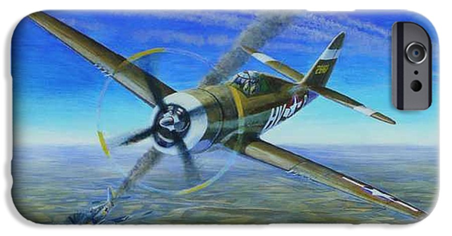 Bob Johnsons P-47 On October 10 IPhone 6s Case featuring the painting Bob Johnsons Thunderbolt by Scott Robertson