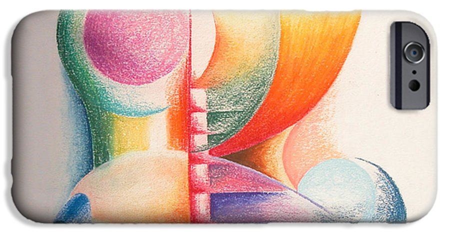 Abstract IPhone 6s Case featuring the drawing Boulets by Muriel Dolemieux