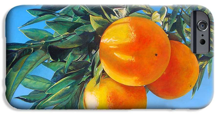 Floral Painting IPhone 6s Case featuring the painting Branche D by Muriel Dolemieux