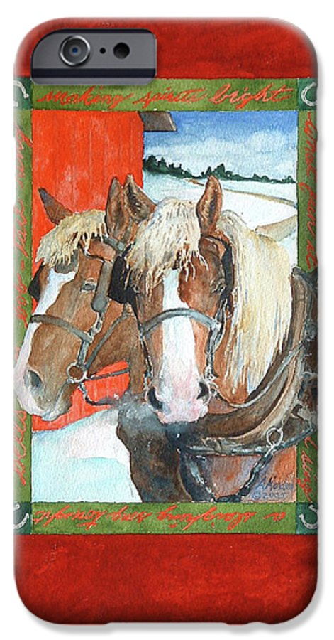 Horses IPhone 6s Case featuring the painting Bright Spirits by Christie Michelsen