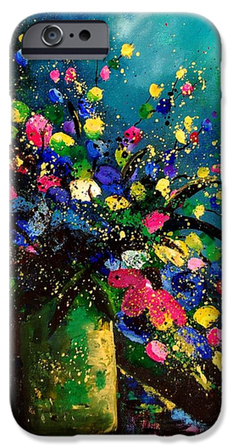 Poppies IPhone 6s Case featuring the painting Bunch 45 by Pol Ledent