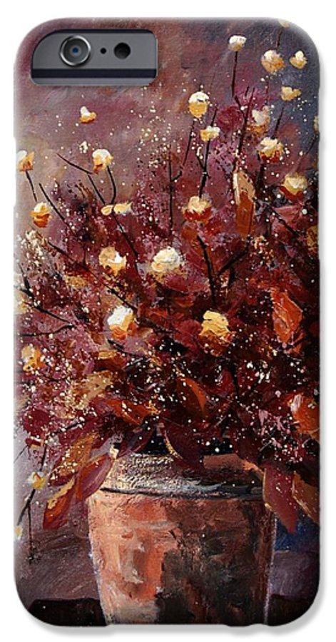 Poppies IPhone 6s Case featuring the painting Bunch 56 by Pol Ledent