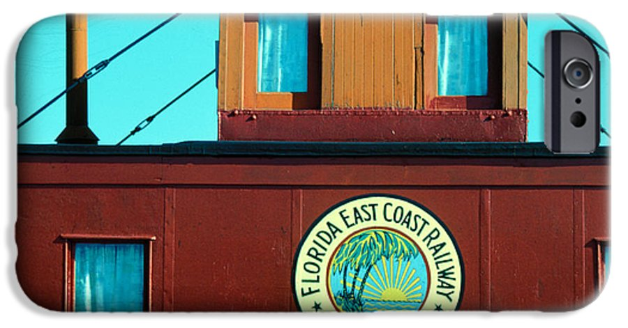 Florida Keys Train Railroad IPhone 6s Case featuring the photograph Caboose by Carl Purcell