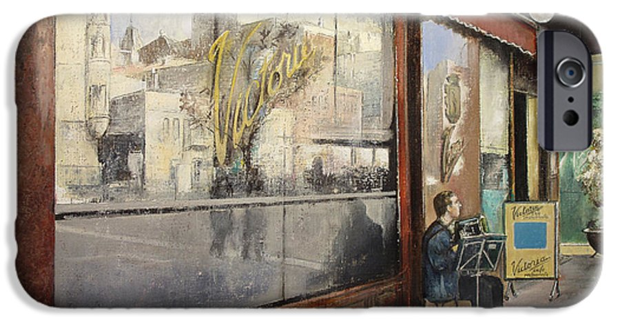Cafe IPhone 6s Case featuring the painting Cafe Victoria by Tomas Castano