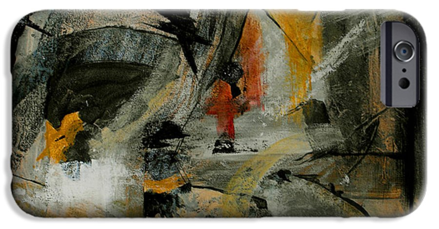 Abstract IPhone 6s Case featuring the painting Calm Out Of Chaos by Ruth Palmer