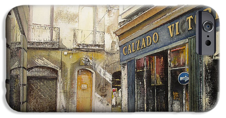 Calzados IPhone 6s Case featuring the painting Calzados Victoria-leon by Tomas Castano