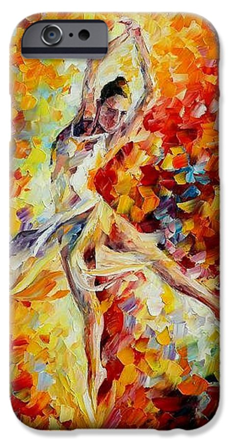 Danse IPhone 6s Case featuring the painting Candle Fire by Leonid Afremov