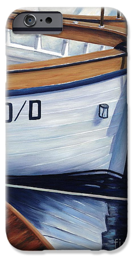 Nautical IPhone 6s Case featuring the painting Capri Boats by Danielle Perry