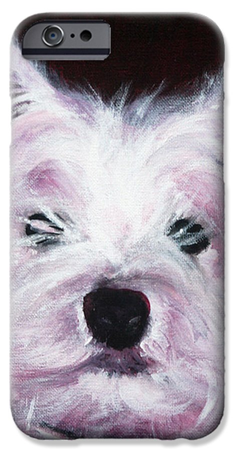 Dog IPhone 6s Case featuring the painting Cassie by Fiona Jack