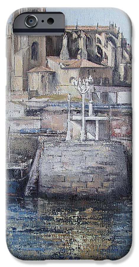 Castro IPhone 6s Case featuring the painting Castro Urdiales by Tomas Castano