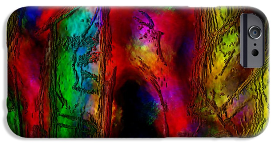 Abstract IPhone 6s Case featuring the painting Caverns Of The Mind by Dee Flouton